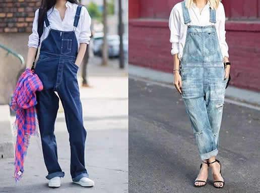 2019春季背带裤怎么搭:时髦女款潮流背带裤(图)