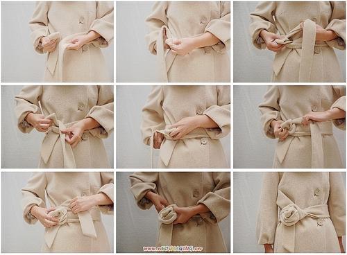 腰带蝴蝶结的系法图解:完美简单蝴蝶结图片效果