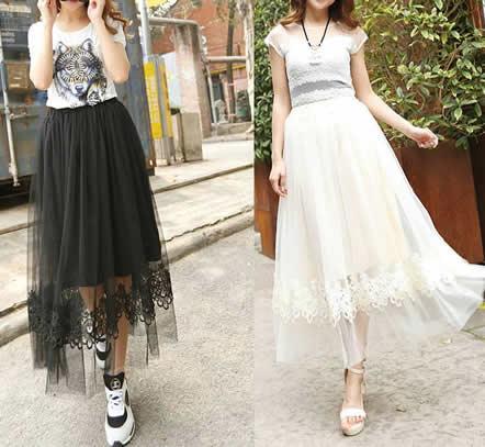 夏天穿什么面料的显温柔气质:3款半身裙简约大方