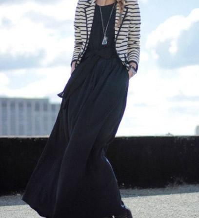 西装外套搭配长裙:女人更显清新甜美范儿(图)