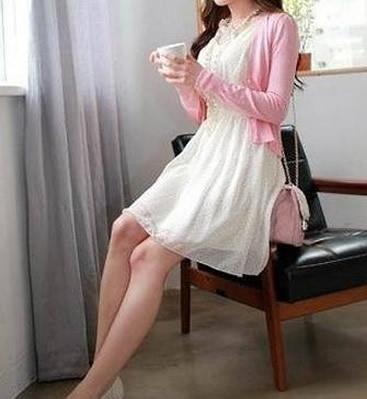 雪纺连衣裙搭配什么外套图片:雪纺连衣裙怎么搭配