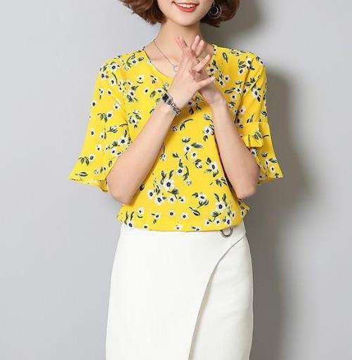 雪纺衫清新甜美又好穿:减龄又洋气透气又时尚