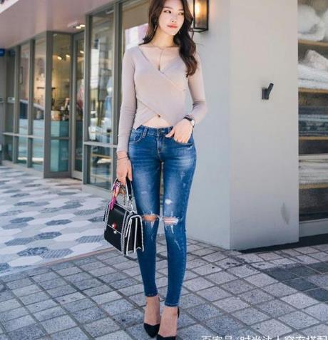 做精致女人:穿紧身牛仔裤