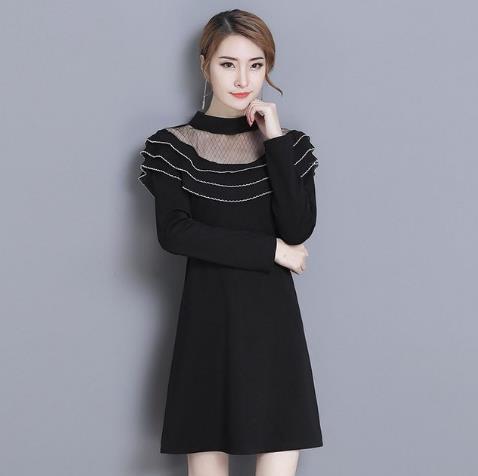 2018春季新款修身连衣裙:女士连衣裙穿上更女人
