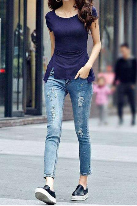 2018女神最爱的牛仔裤:春季时尚靓丽的修身神器