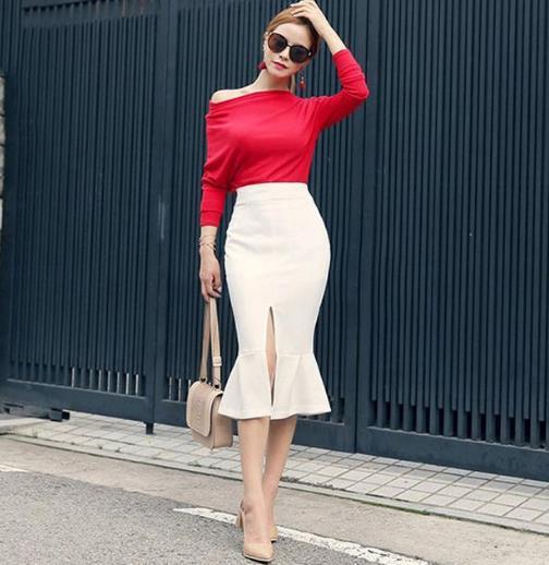 强力推荐春夏包臀鱼尾裙搭配 时尚优雅显气质