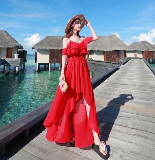6款大红色连衣裙会撞出怎样的新火花(图)