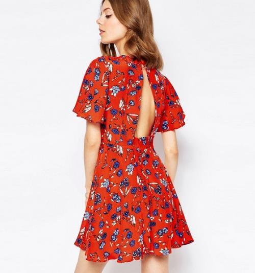 春季性感新时尚 这样的露背裙你敢穿吗(图)