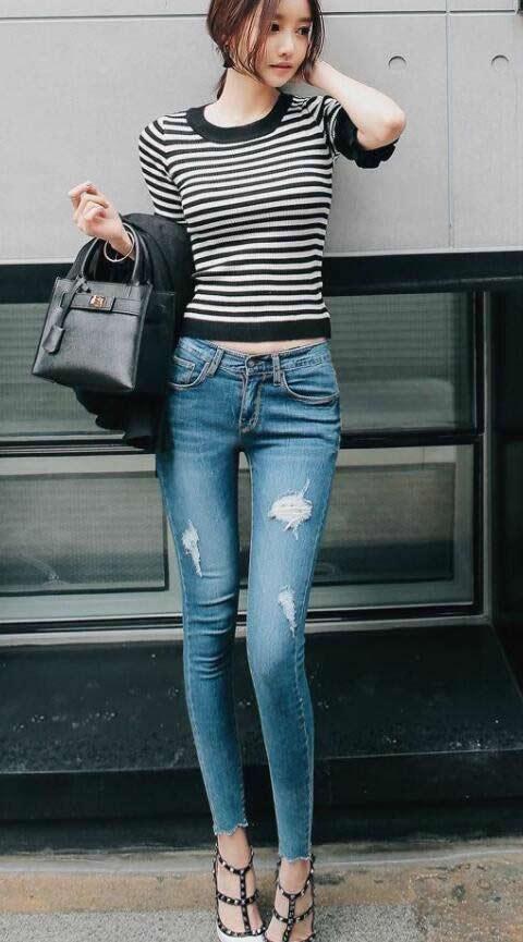 时尚女人这样搭配牛仔裤:大气成熟穿搭时髦(图)