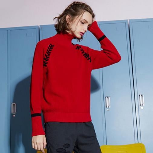 百变红色针织衫究竟怎么穿才好看(图)