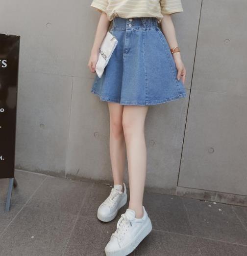 凸显大长腿 你需要一条高腰牛仔裙来助阵(图)