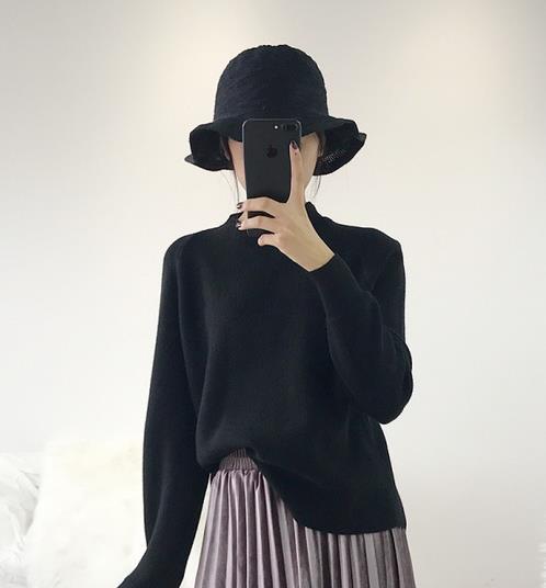打底衫更有时髦感 时尚打底毛衣穿搭示范(图)