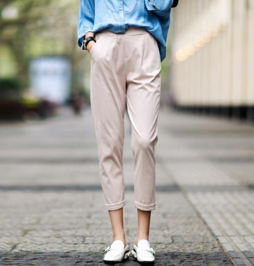 经典显瘦的时尚休闲裤搭配示范(图)