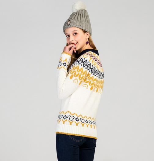 时髦针织羊绒衫搭配 让春季更出彩(图)