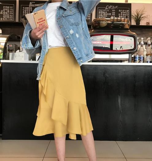 微胖MM穿这几款不规则鱼尾裙 时髦又显瘦