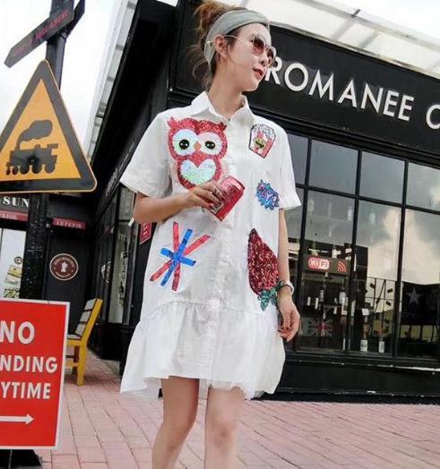 今夏最流行长袖衬衫裙 彰显知性优雅(图)