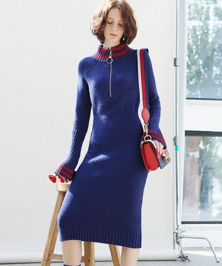 彰显时尚优雅范的格子毛衣半裙套装搭配精选(图)