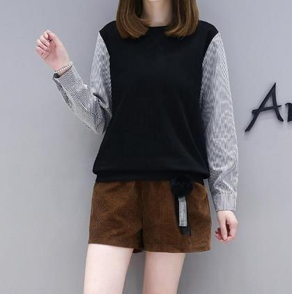 2018流行pu靴裤打底配一件蕾丝衫:显高又有女人味