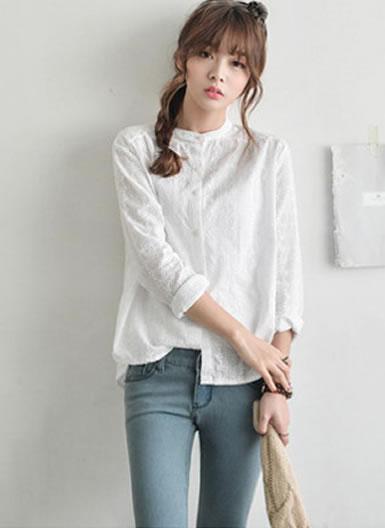 女士衬衫怎么搭配好看:女式长袖衬衫搭配效果