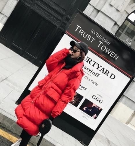 过年就要这样穿 红色针织搭配红色外套(图)