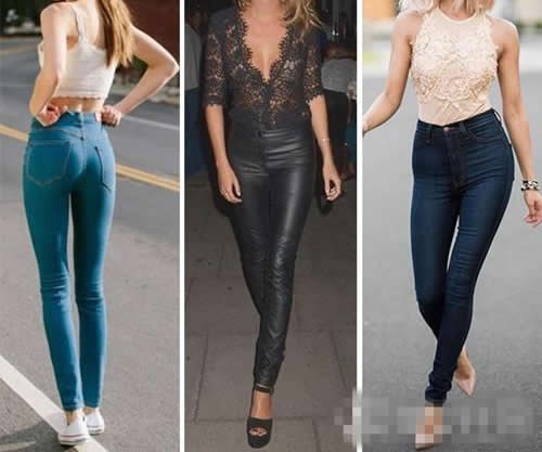 时尚牛仔紧身裤:苗条尽显迷人好身材