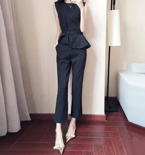 职场女性必备一款优雅气质阔腿裤套装(图)