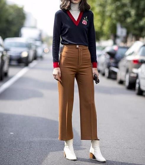 阔腿裤穿不好其实很显胖:阔腿裤这样搭配女神范