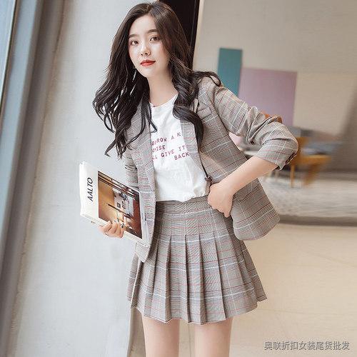 2019新款韩版收腰百搭小西装女外套短款