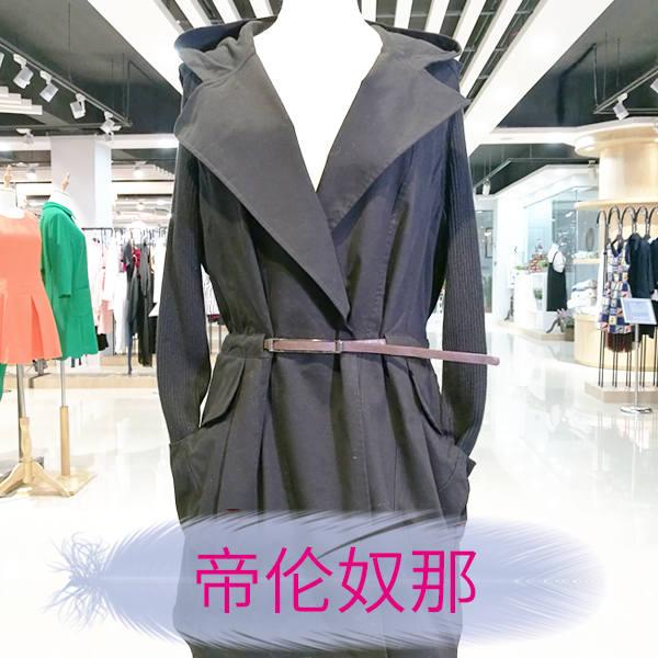 广州女装批发 帝伦奴那折扣女装风衣外套走份货源