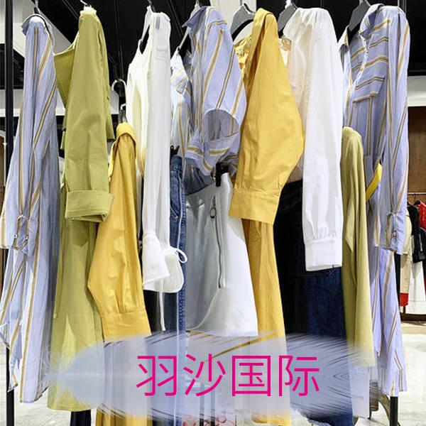 羽沙国际品牌女装针织衫 奥联女装尾货0.5折扣批发