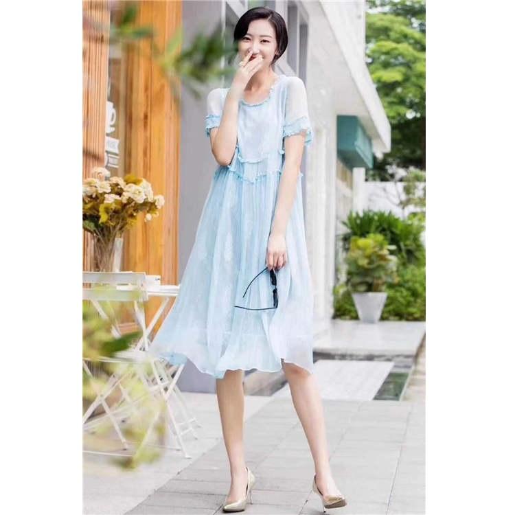 连衣裙新款 本色品牌 品牌剪标女装尾货